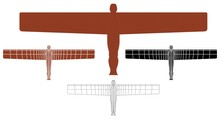 Angel Of The North In Front View