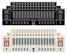 Columbia University Library Without Outline