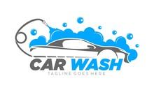Car Wash Simple Luxury Vector Logo