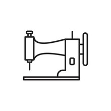 Sewing Machine Icon Template B...