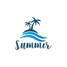 Natural Beach Logo Template De...