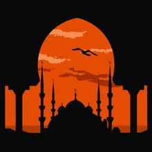 Illustration Of Mosque Vector ...
