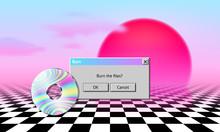 Vaporwave Landscape With CD, D...
