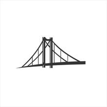 Bridge Logo Design Icon Vector