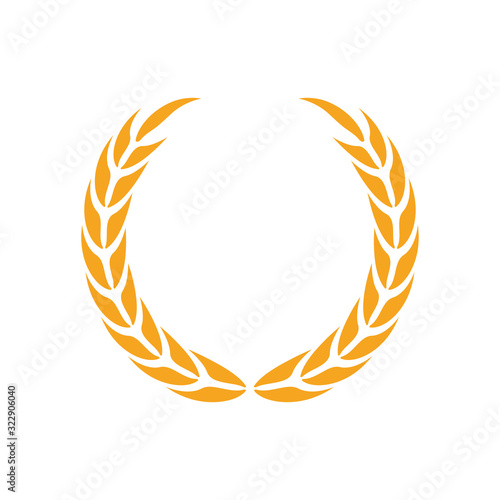 Tablou Canvas Laurel wreath icon design template vector isolated