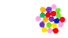 Colored Pom Pom, Party And Sew...