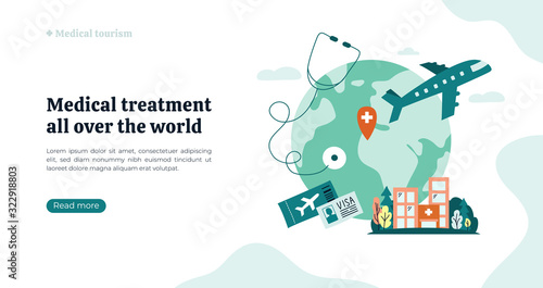 Organization of medical tourism and treatment all over the world Canvas Print