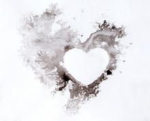 Watercolour Splashes Heart On ...