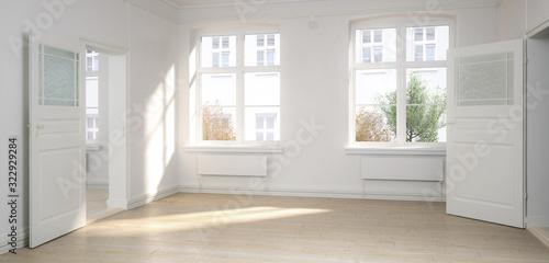 Cuadros en Lienzo Empty renovated flat - panoramic 3d visualization