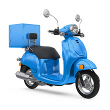 Motorcycle Delivery Box Isolated