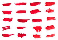 Set Of Lipstick Smear Smudge S...