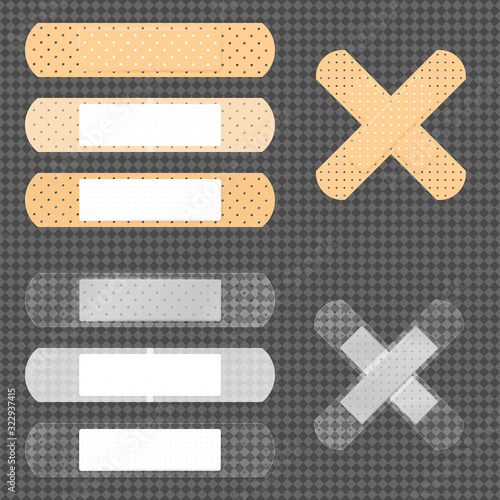 Fotografie, Tablou Vector set of 10 medical bandages