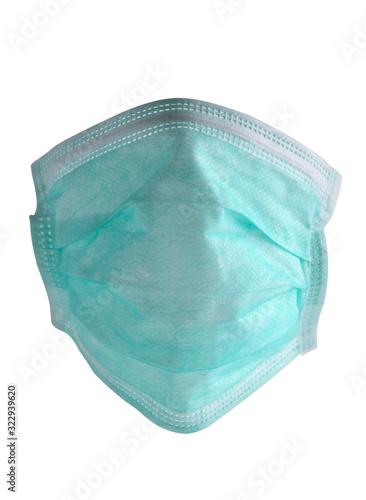 Photo Mund Nasen Schutz aus Vliesschichten, Schutzfunktion vor Viren und Keimen vor we