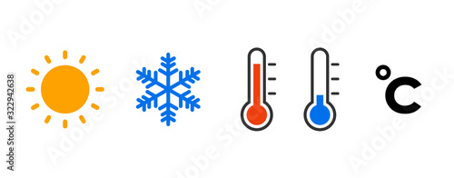 Fotomural 気温のアイコンセット