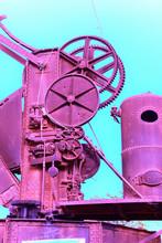 Steampunk Crane In Purple