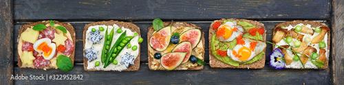 Foto gesunde bunte Sandwiches