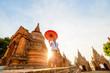 Leinwanddruck Bild - Young girl in Bagan Myanmar