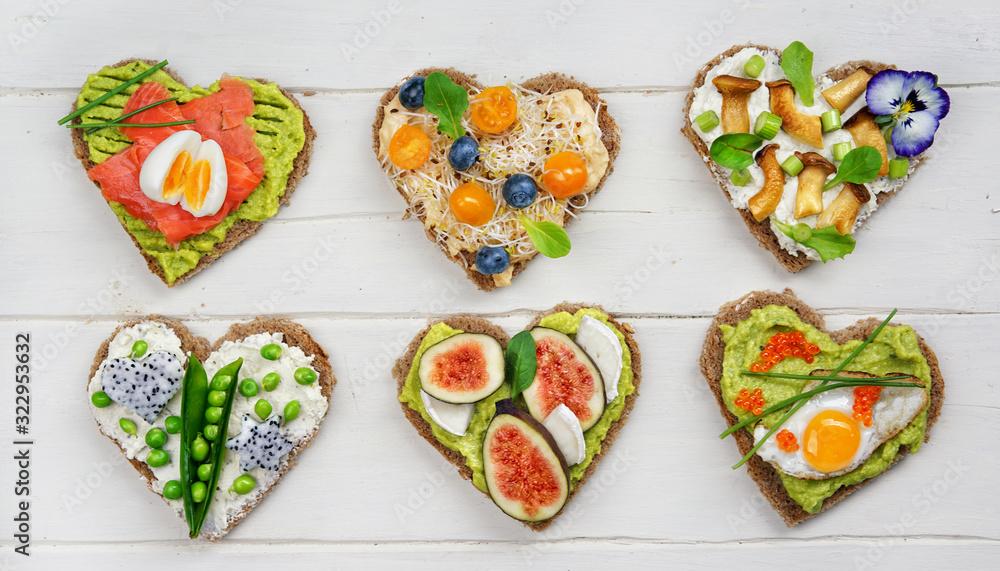 Fototapeta gesund belegte Brote