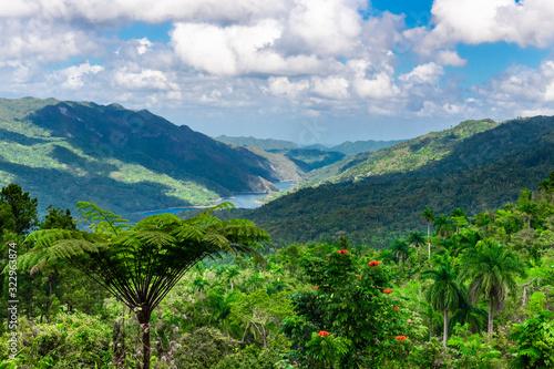 Cuba, Escambray Mountains from the Hanabanilla Look Out Canvas Print