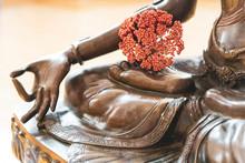 Green Tara. Buddha Statue. Buddhism Symbol Of Religion, Peace And Spirituality.