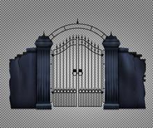 Realistic Cemetery Gate