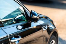 Side Door Of A Luxury Car Park...