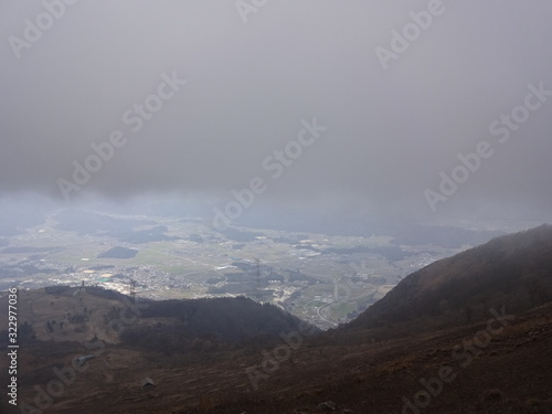 Photo The view of Ibuki Mountain in Japan