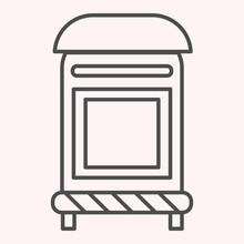 Mailbox Thin Line Icon. Mail P...
