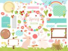 かわいい春のイラストセット