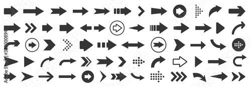 Fototapeta Arrow icon. Mega set of vector arrows obraz