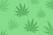 Vector Green Cannabis Leaves B...