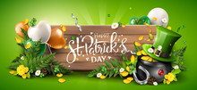 St. Patrick's Day Header Or Banner