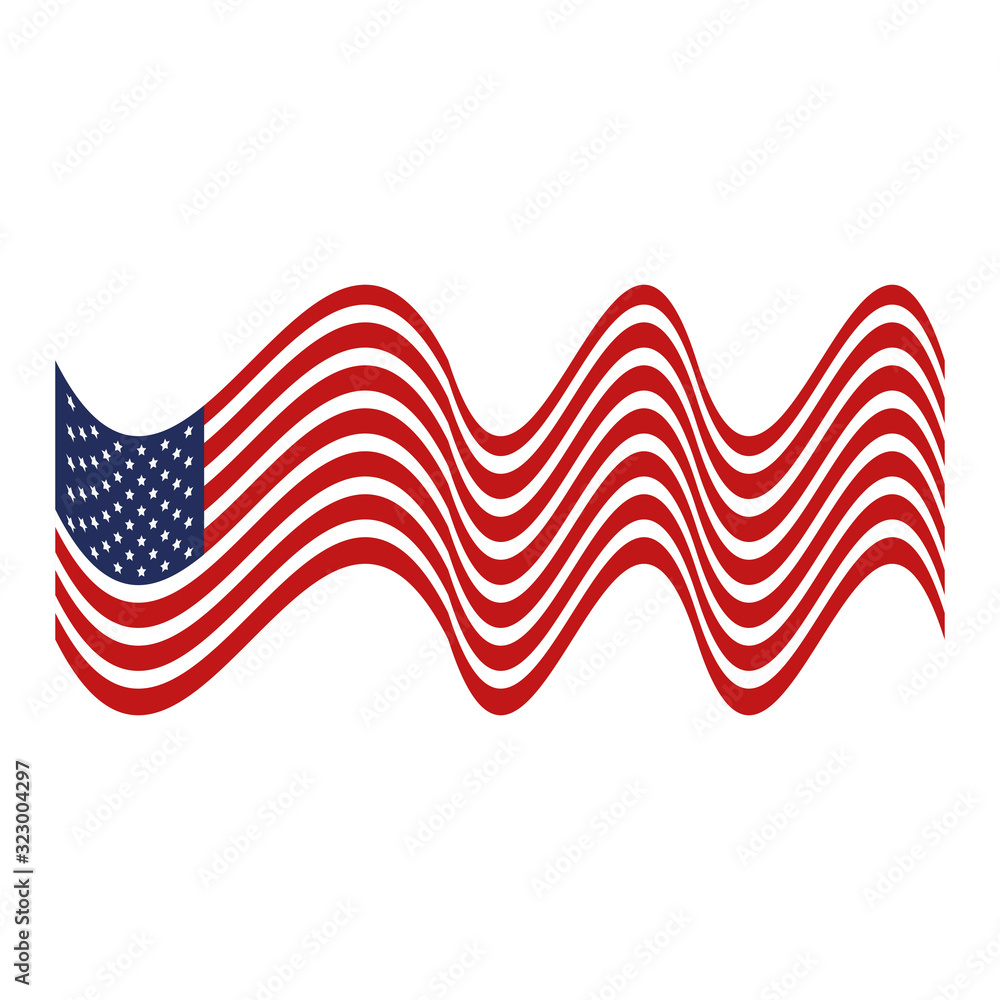 Fototapeta united states flag isolated icon vector illustration design