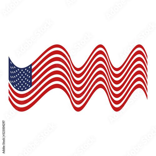 Cuadros en Lienzo united states flag isolated icon vector illustration design