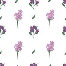Purple Wildflowers Pattern. Ve...