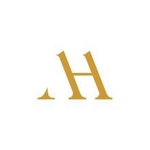 Initial Letter Ah Or Ha Logo Design Template