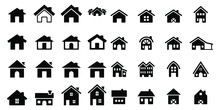 House Icon Set Vector Illustra...