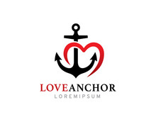 Love Anchor Logo Template Desi...