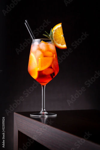 Cold Aperol spritz cocktail