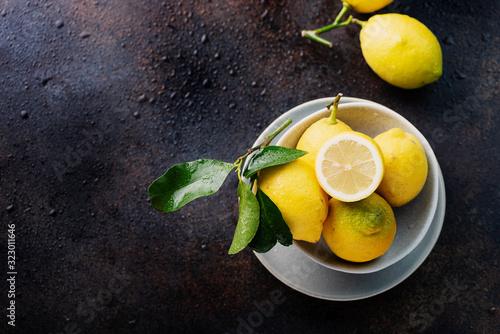 Fototapeta Fresh biological lemons