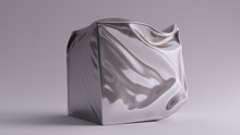 Silver Box Crushed Sculpture 3...