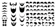 Bearded Icon Set Vector Illust...
