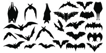 Horror Black Bats Group Isolat...