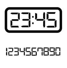 Digital Clock On White Backgro...