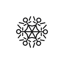 Snowflake Line Simple Icon, Ou...