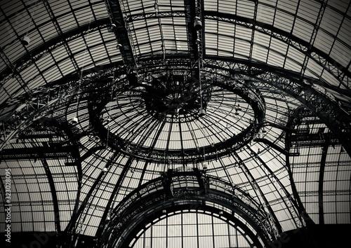 Fotografie, Obraz Grand Palais ceiling with windows in Paris, France