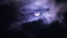 Moon Through Creepy Clouds At ...