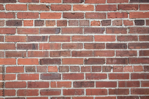 rough red brick textured wall