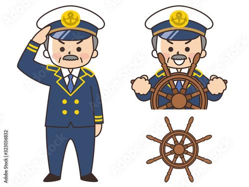 船長の中年男性 キャプテン