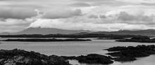A Black And White Shoreline Wi...